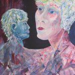 Beziehungsreich · 100 x 70 cm · Acryl auf Canvas · 2014