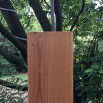 Hans guck in die Luft · Stahl auf Holzsockel