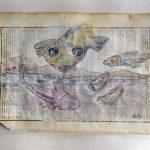 Fliegende Fische · Gouache, Kugelschreiber · 2019