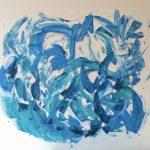 Jetzt! · 80 x 100 cm · Acryl auf Canvas · 2019