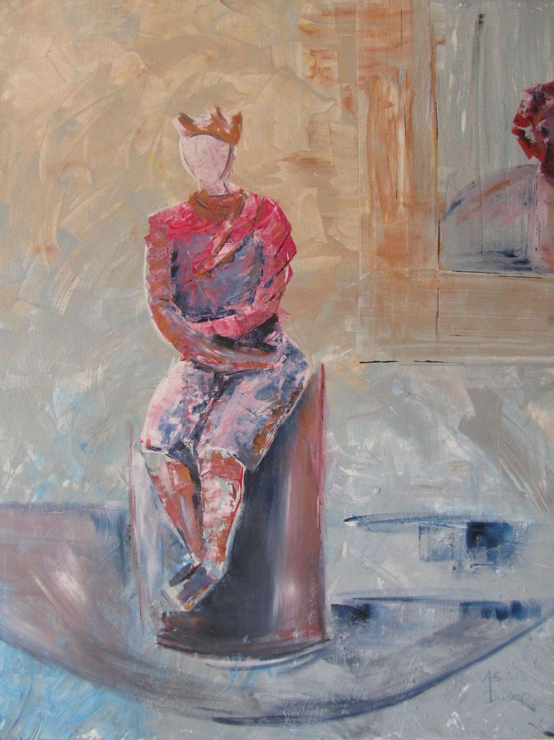 Einsame Macht · 100 x 80 cm · Acryl auf Canvas · 2013