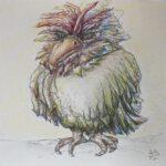 angry bird. Aquarell-/Buntstifte. 2021
