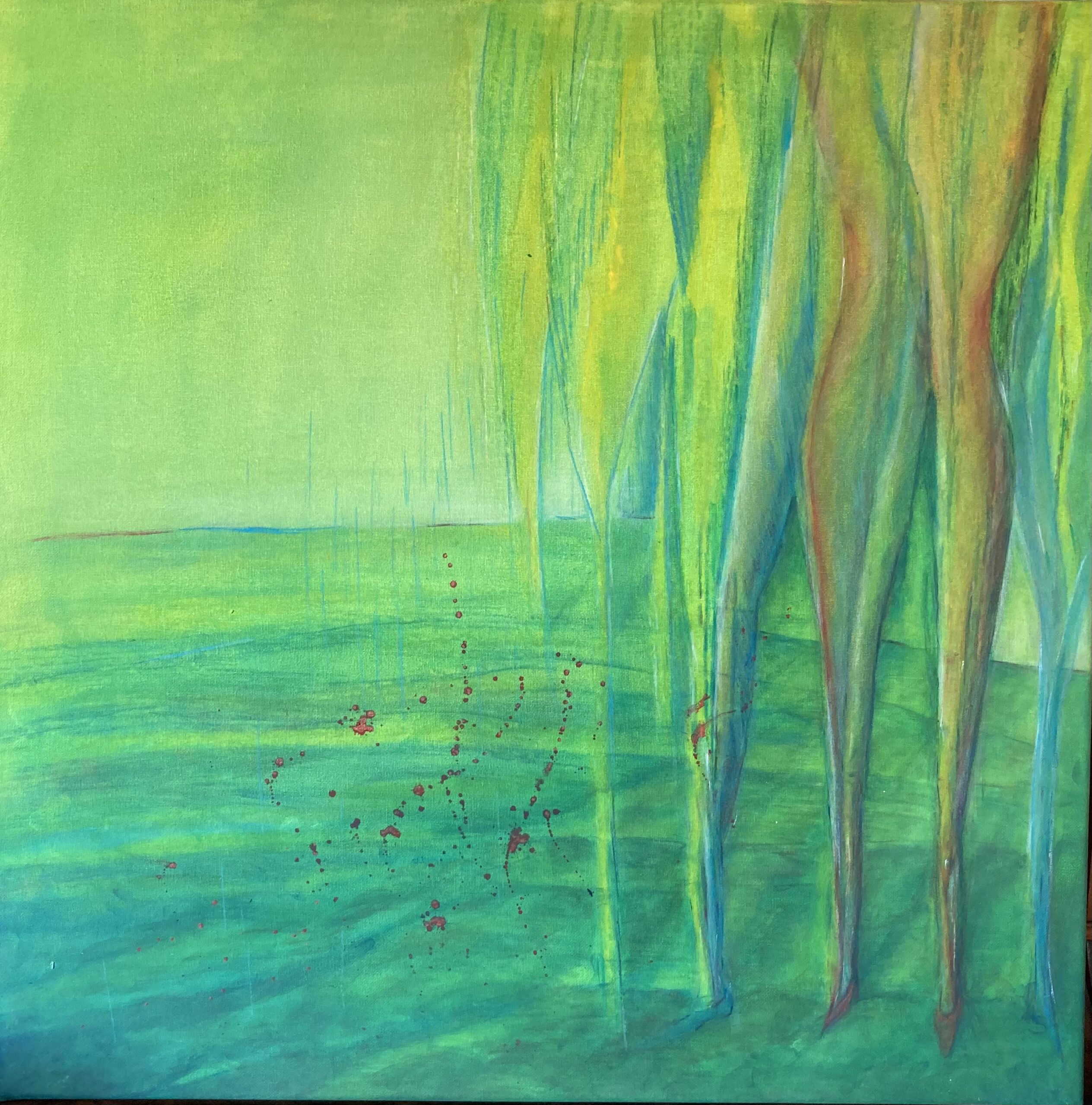 Metamorphosis. 60 x 60 cm. Acryl auf Leinwand. 2021